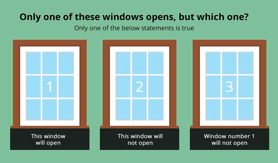 3 Windows Brainteaser